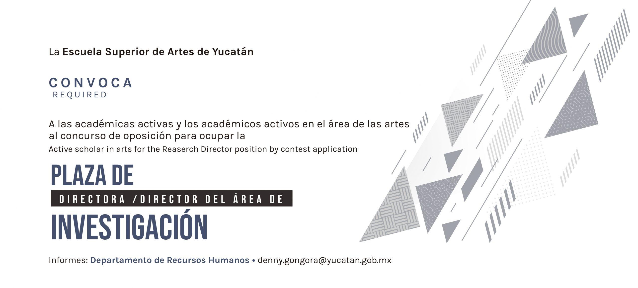 DIRECTORA/O INVESTIGACIÓN